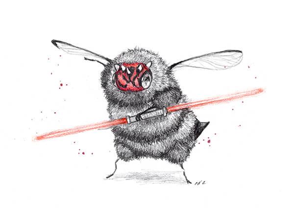 darthmead sm1 by camilladerrico dca9lp0 - אומנית מציירת דבורים כל כך חמודים