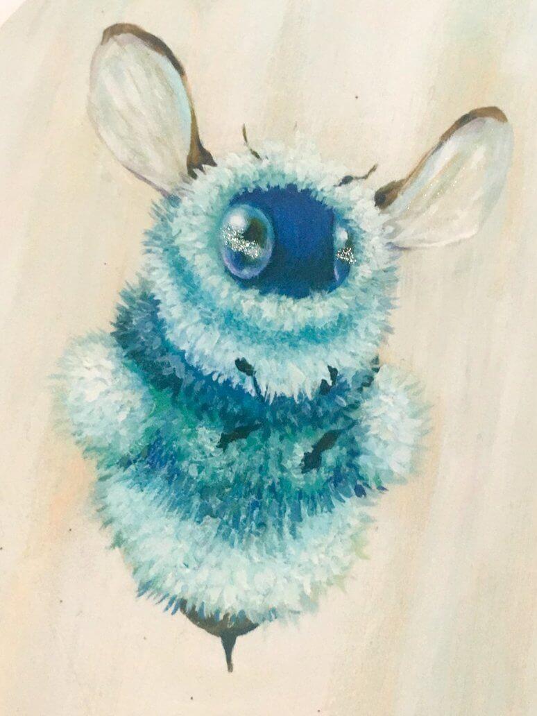 glitter fuzzbutt  by camilladerrico dc891ps - אומנית מציירת דבורים כל כך חמודים