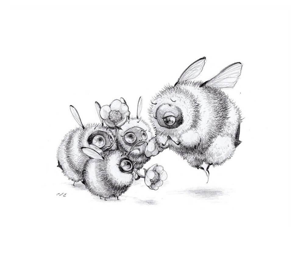 happy mother s day by camilladerrico dcbeb0w - אומנית מציירת דבורים כל כך חמודים