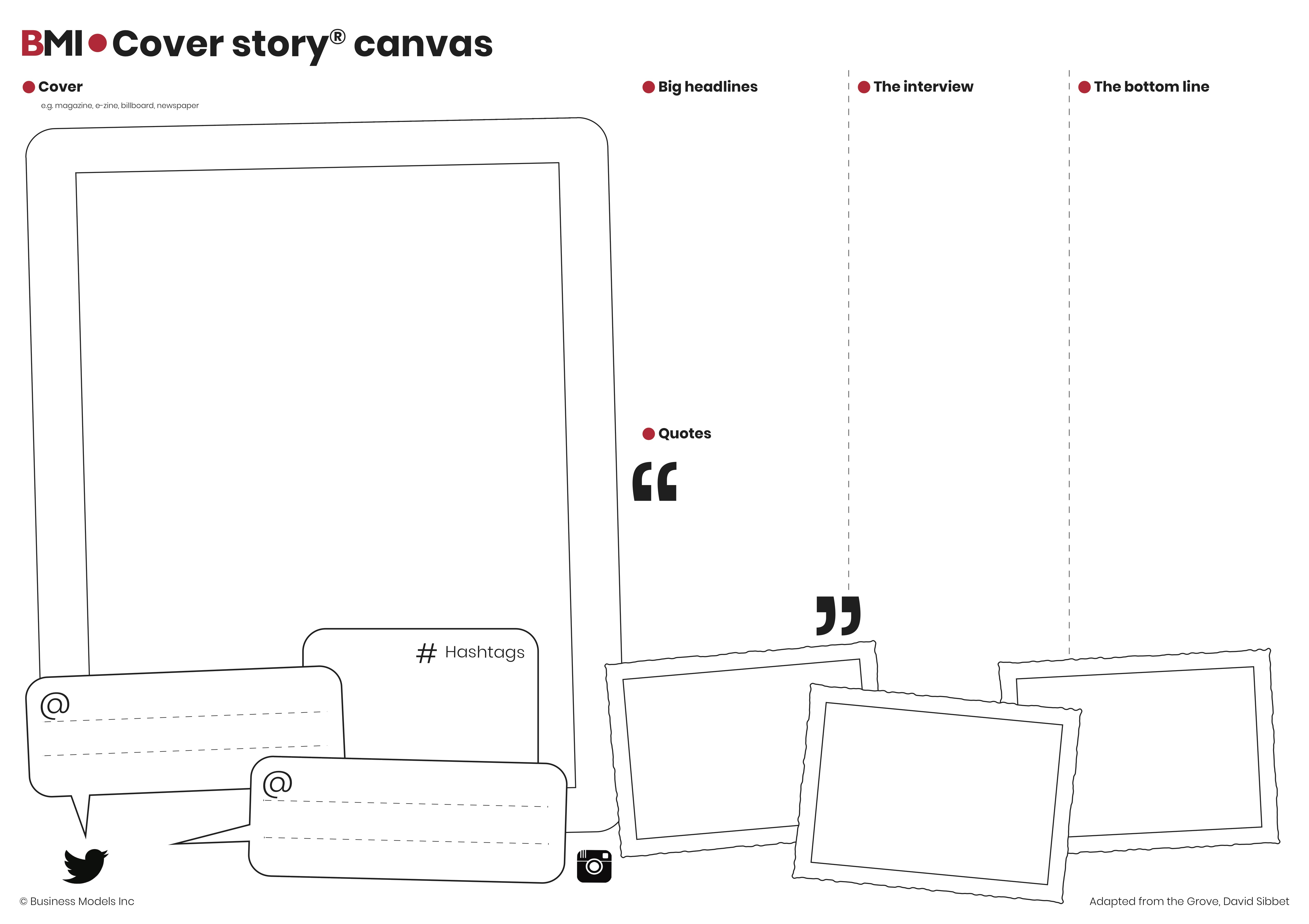 Cover story canvas