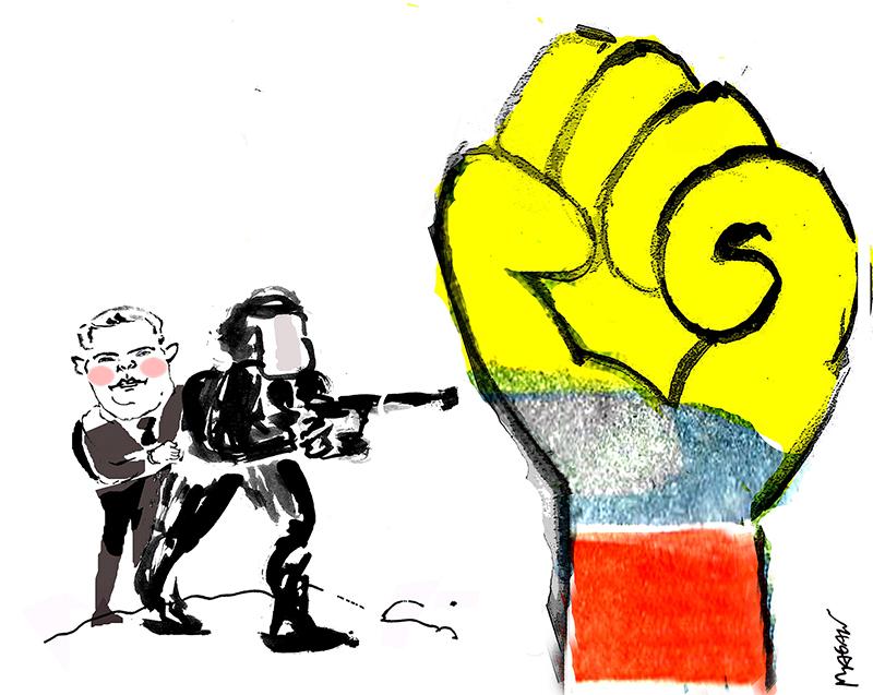 Cartoon by Magalú