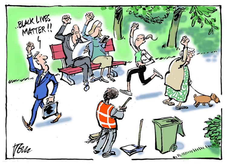 Cartoon by Tom Janssen