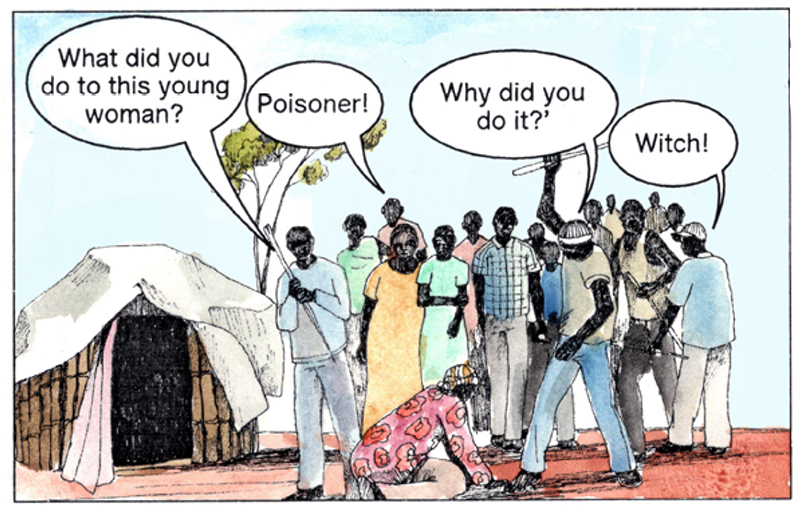 Panel of the comic 'A poisoning in Palabek'