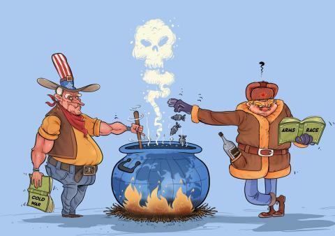 Cartoon about Joe Biden and Vladimir Putin