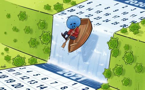 Cartoon about 2021
