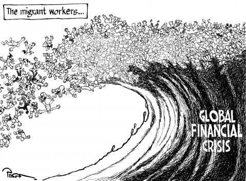Cartoon about globalization