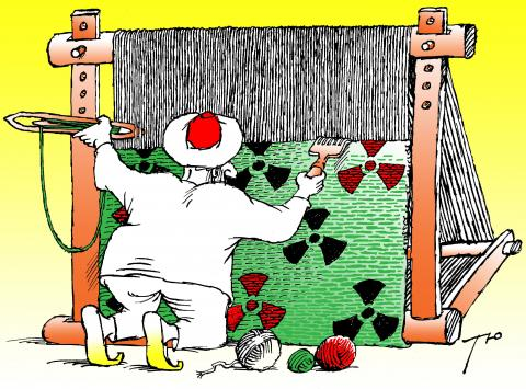 Cartoon about Iran's nuclear program