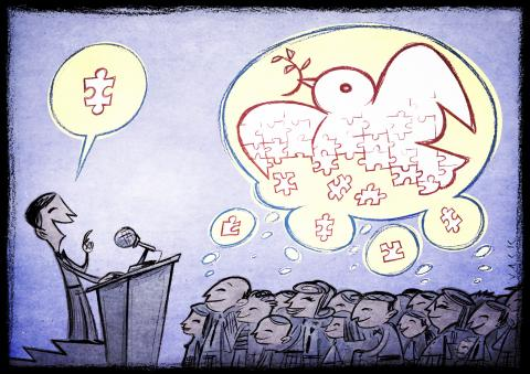 Cartoon about peacebuilding