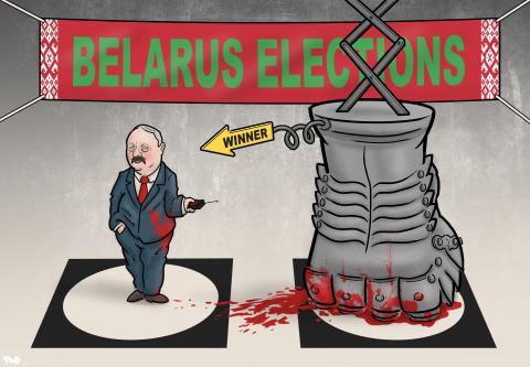 Cartoon about Belarus