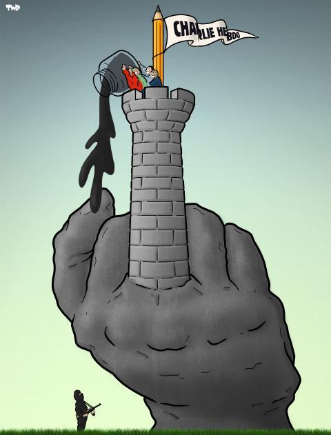 Cartoon about Charlie Hebdo
