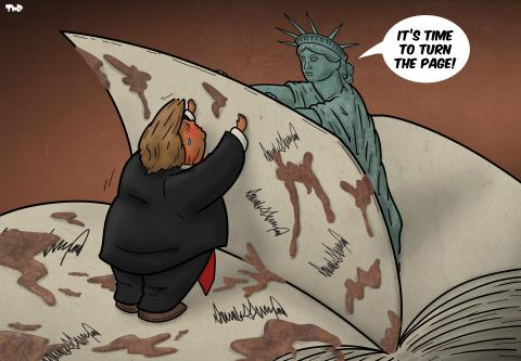 Cartoon about the US elections