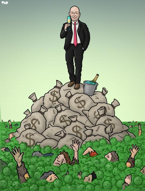 Cartoon about inequality