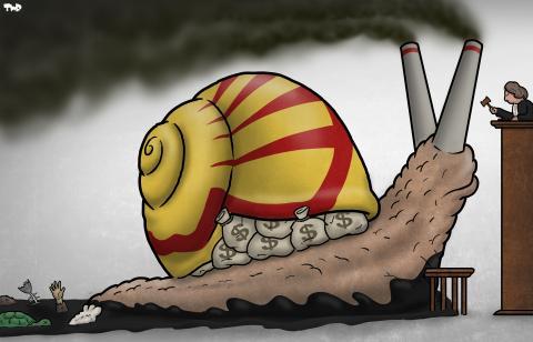 Cartoon about Shell