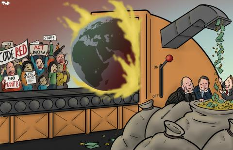 Cartoon about climate change
