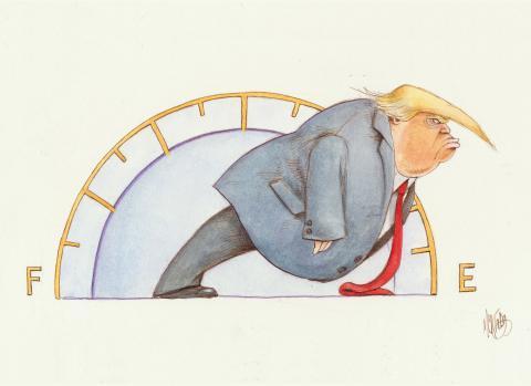 Cartoon about Trump