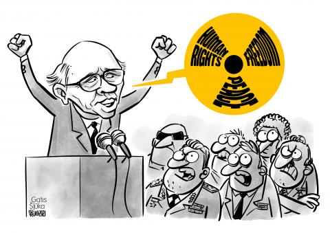 Cartoon about Andrei Sakharov