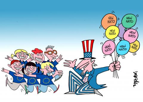 Cartoon about the USA and NATO