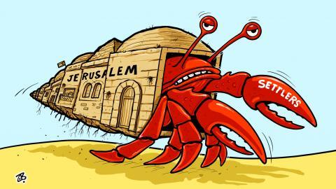 Settlers in Jerusalem