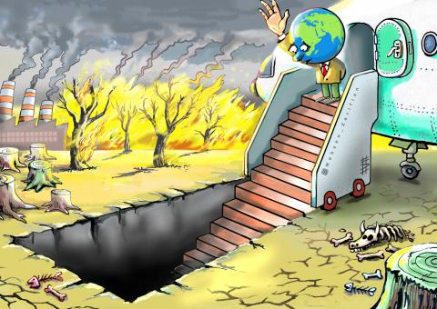 Cartoon about the end of the world