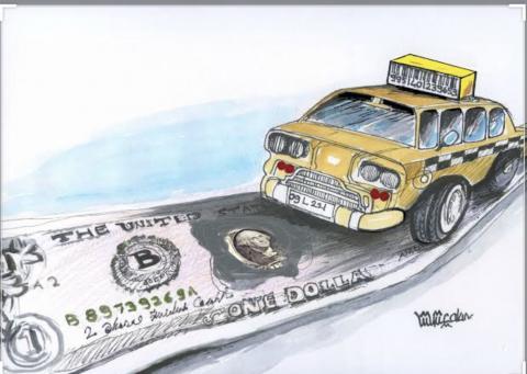 Cartoon on car theme