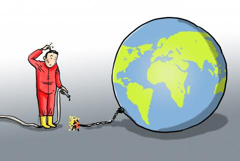Cartoon about the IPCC climate report