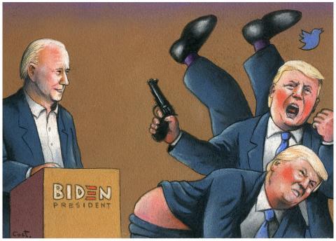 Presidential debate between Biden and Trump