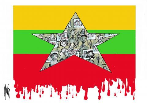 Este fin de semana ha sido el más sangriento desde el 1 de febrero cuando se produjo el golpe de Estado en Birmania