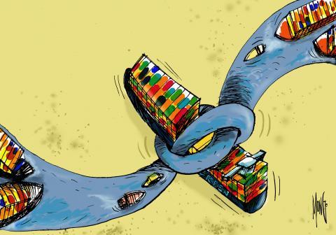 Nuevos intentos para liberar el buque que bloquea el Canal de Sues fracasan agudizando el comercio internacional