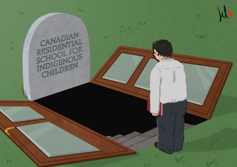cartoon about canadian indigenous children