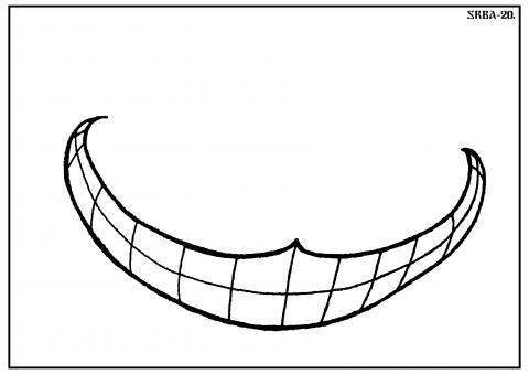 Cheshire cat  smile.