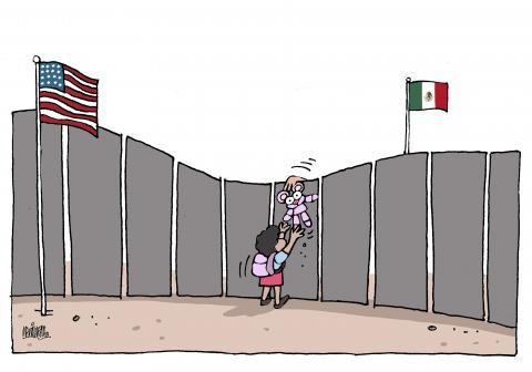 Children alone at the border