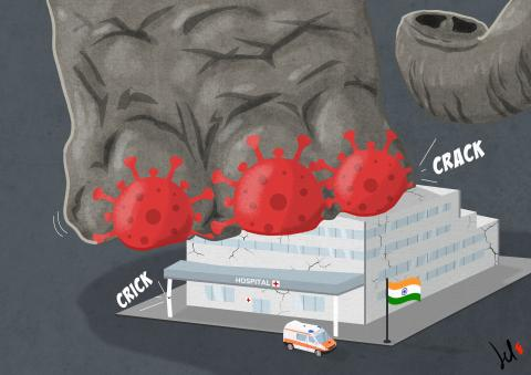 cartoon about india and coronavirus