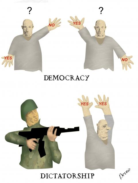 little difference between democracy and dictatorship