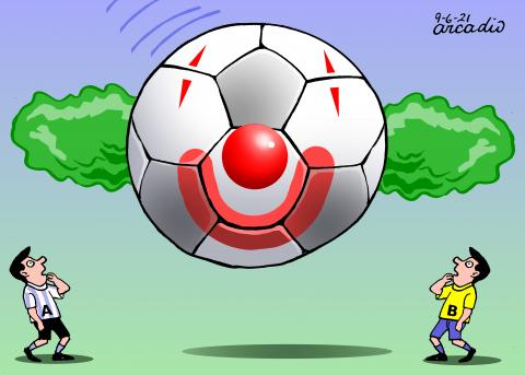 Brazil and Argentina involved in a sports scandal.