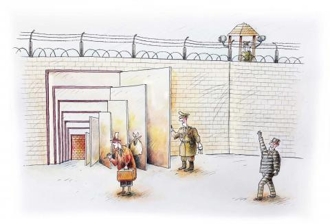 The freedoms that are always offered to us are illusions. We never get rid of other walls and other bars