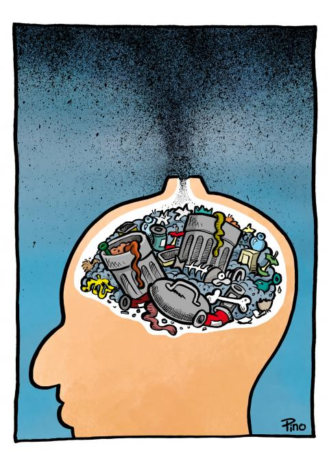Man's dirty head leads to pollution