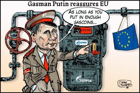 Putin measures EU