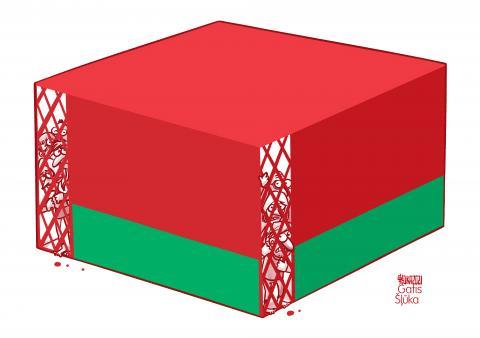 Cartoon about oppression in Belarus