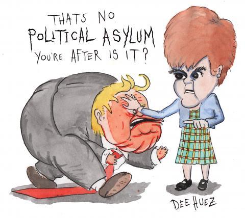 Trumps no welcome in Scotland