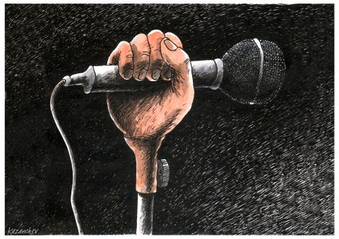 Microphone, freedom of speech, democracy, censorship