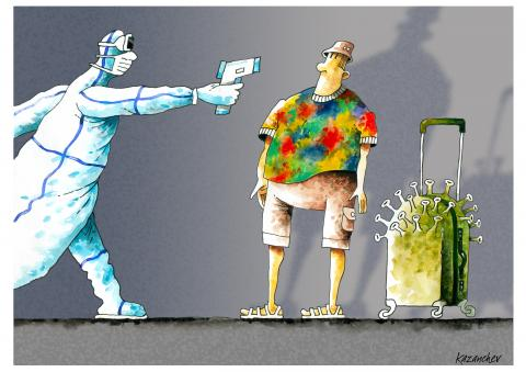 Coronavirus, pandemic, tourist, doctor, medicine