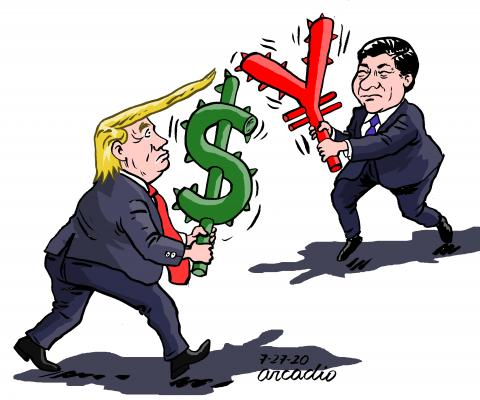 China and US fighting for being the number one.