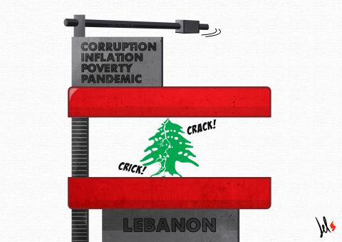 cartoon by del rosso about lebanon