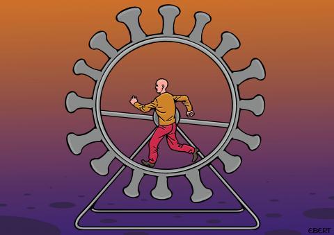 The human wheel...