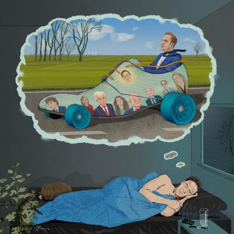 Mark Rutte dreaming of Hugo de Jonge