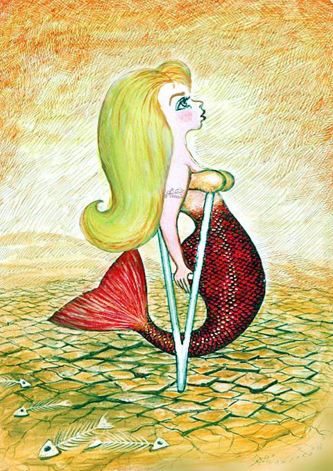 My little mermaid cartoon by Ali Divandari