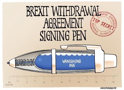 The Brexit Withdrawal Agreement Signing Pen.