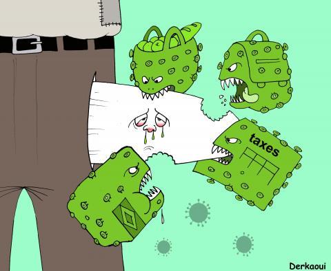Cartoon about the coronavirus and poverty