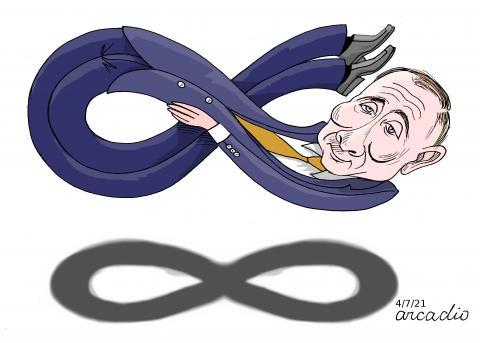 Putin, the infinite.