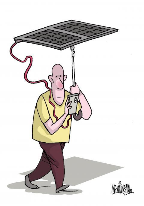 Renewable energies and mobile telephony